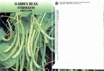 Garden Bean Vegetable Seed Packets - Blank