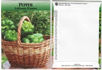 Bell Pepper Vegetable Seed Packets - Blank