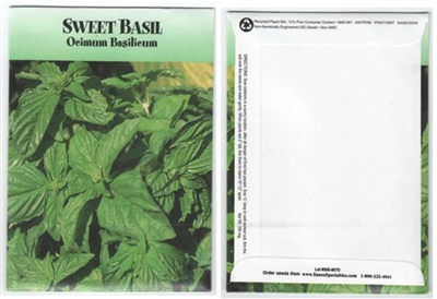 Sweet Basil Herb Seed Packets - Blank