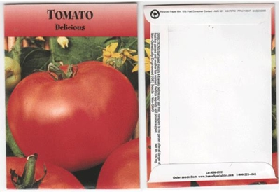 Tomato Vegetable Seed Packets - Blank