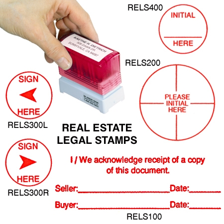 SelfInking Legal Document Stamps - Real estate legal documents