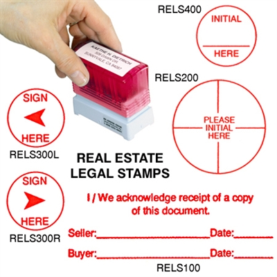 Self-Inking Legal Document Stamps