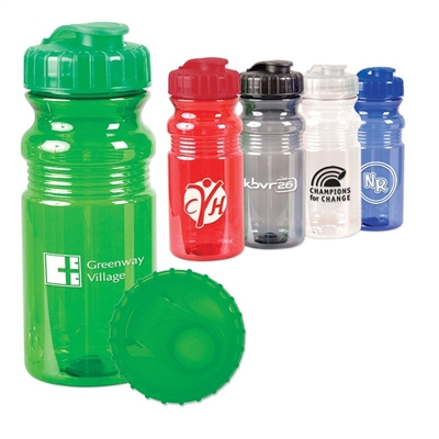 20 OZ. TRANSLUCENT SPORT BOTTLE WITH SNAP CAP