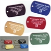 Anodized Engraved Dog Tag Key Tags