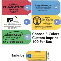 Printed Paper Key Tags - 100 Per Box | Sanzo Specialties