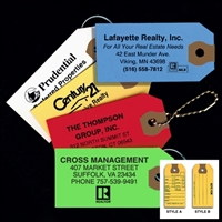 Real Estate Key Tags - 100 Per Box