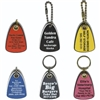 Teardrop Laser Engraved Key Tags