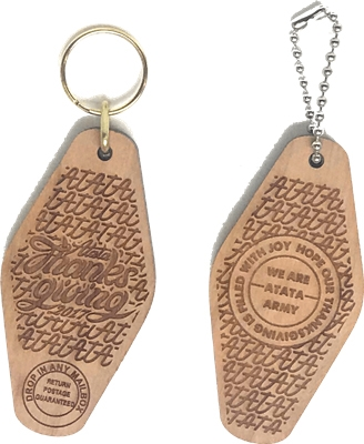 Hotel / Motel Hard Cherry Wood Engraved Key Tags