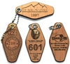 Hotel / Motel Wood or Leather Engraved Key Tags