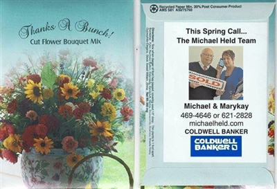 Thanks a Bunch! Cut Flower Bouquet Mix Custom Printed Packets