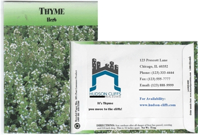 Thyme Personalized Seed Packets