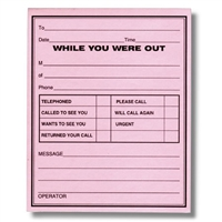 While You Were Out Message Pads