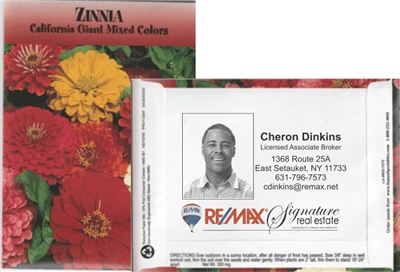 Zinnia Personalized Seed Packets