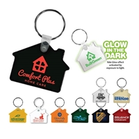 Soft Vinyl House Shaped Key Chains
