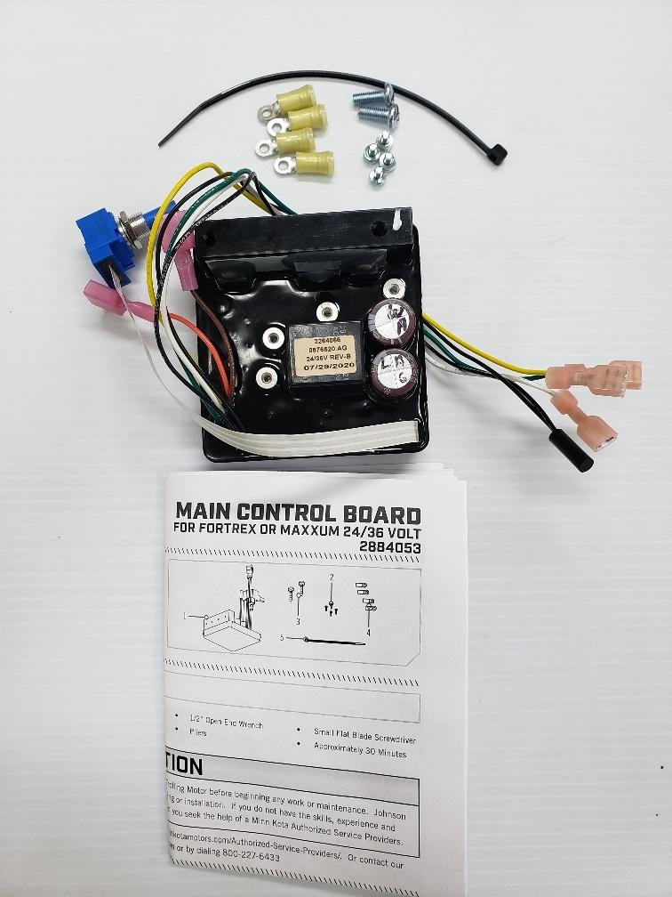 Minn Kota Control Board For Fortrex Models Battery Wiring Diagram 36 Volts