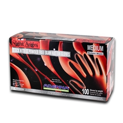 Night Angel Black Nitrile Gloves By Adenna - X-Large