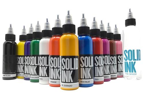 Solid Tattoo Ink - 12 Color Spectrum Set (1 oz)