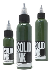 Solid Tattoo Ink - Olive (1 oz)