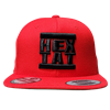 Red Snapback Hat Black Hip Hop Hextat Logo