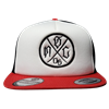 Black White and Red Foam Trucker Hat Black NSC Borboa Logo