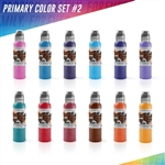 World Famous Tattoo Ink - Primary Color Set #2 (1 oz)