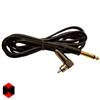 8ft Silicone Right Angle RCA Cord (Black)