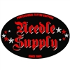 Needle Supply Logo Oval Sticker 6x4""