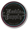 Needle Supply Logo Circle Sticker 5x5""