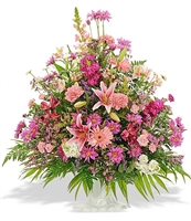 Mixed Arrangment in white urn