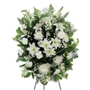 White flower funeral spray