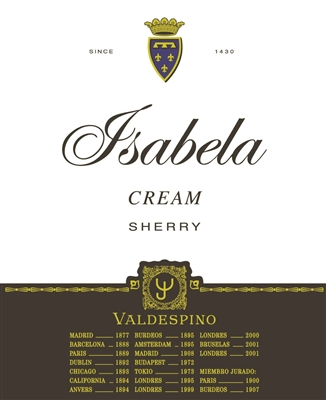 Valdespino. 'Isabela' Cream nv 750ml