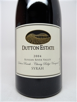 Dutton Estate. Russian River Valley Syrah 'Cherry Ridge' 2004 750ml