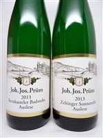 Prum, Joh Jos. Riesling Auslese Bernkasteler 'Badstube' & Zeltinger 'Sonnenuhr' 2013 750ml one of each