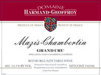 Harmand-Geoffroy. Mazis Chambertin Grand Cru 2012 750ml