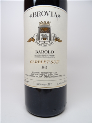 Brovia. Barolo 'Garblet Sue' 2012 750ml