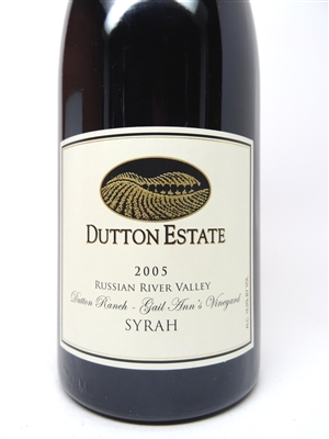Dutton Estate. Russian River Valley Syrah 'Gail Ann's' 2005 750ml