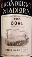 Broadbent. Madeira 'Single Cask' Boal 1998 750ml