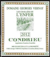 Vernay, Georges. Condrieu 'Les Chaillees de l'Enfer' 2017 750ml
