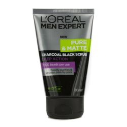 L'Oreal Men Expert Pure Matte Charcoal Black Scrub 100ml/3.3oz