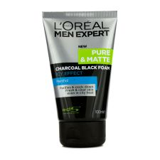 L'Oreal Men Expert Pure Matte Icy Effect Charcoal Black Foam 100ml/3.4oz