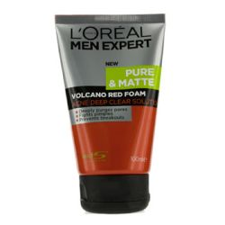 L'Oreal Men Expert Pure Matte Volcano Red Foam (Tube) 100ml/3.4oz