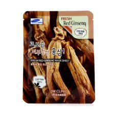 3W Clinic Mask Sheet - Fresh Red Ginseng 10pcs