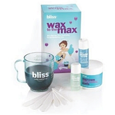 Bliss Wax to Max Set 10 Piece Gift Set Poetic Wax 5.3oz + Ingrown Eliminating Pads 50ct + Cleanser 1oz + Post-Waxing Oil 1oz + 3 Sm Spatulas + 3 Lrg Spatulas + Guide