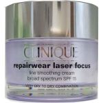 Clinique Repairwear Laser Focus Line Smoothing Cream SPF 15 Very Dry to Dry, Dry Combination at CosmeticAmerica