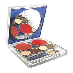 Estee Lauder Pure Color Lipstick & Eye Shadow Palette Compact Includes: (2) Lipstick Shades + (4) Eye Shadow Shades + 2 brushes app UNBOX