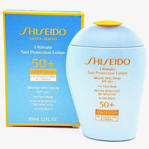 Shiseido Ultimate Sun Protection Lotion SPF 50+ WetForce Sensitive Skin &  Children 100 ml / 3 3 oz