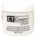 CT Cream PLUS pain relief cream - Carpal Tunnel Syndrome , Arthritis, Tendonitis, Bursitis 2 oz