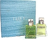 Eternity by Calvin Klein men 2 Piece Set 2 piece gift set 3.4 oz Eau De Toilette EDT Spray + 3.4 oz After Shave Splash