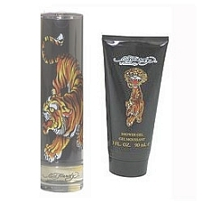 Ed Hardy Tiger by Christian Audigier for Men 2 Pc 3.4 oz EDT Spray & Shower Gel Set 2 piece gift set 3.4 oz Eau De Toilette EDT Spray + 3 oz Shower Gel