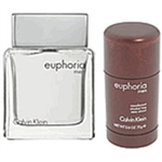 Euphoria by Calvin Klein for men 2 Pc Set 3.4 oz EDT Spray & Deodorant 2 Piece Gift Set 3.4 oz Eau de Toilette EDT Spray + 2.6 oz Dedorant